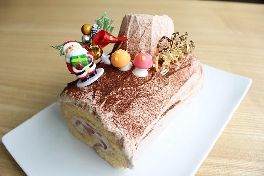 2014年 クリスマス ケーキ ブッシュドノエル 高千穂 カフェ アンソレイユ
