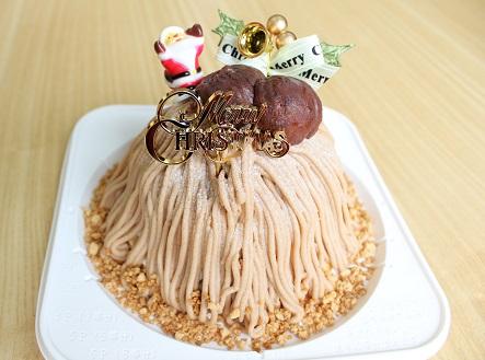 2014年 クリスマス ケーキ モンブラン 高千穂 カフェ アンソレイユ